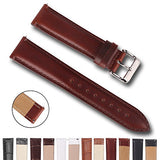 Top Grain Leather Watch Band, Quick Release Watch Bands, Replacement Watch Bands for Men and Women, Easy Swap, Change in Seconds [18mm Brown]