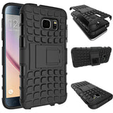 S7 Cases, Samsung Galaxy S7 Case, S7 Hard Case, Anti Slip Scratch-Resistant Heavy Duty Protective Cover and Shockproof Bumper with Kickstand by Boonix [Black]