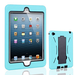 APPLE iPad Mini 4 Case, High Quality Dual Layer Hybrid Protective Case and Shockproof Bumper with Two-Way [Portrait and Landscape Mode] Side Stand by Boonix [Turquoise]