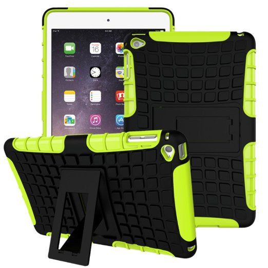 APPLE iPad Mini 4 Case, High Quality Dual Layer Hybrid Protective Case and Shockproof Bumper with Two-Way [Portrait and Landscape Mode] Side Stand by Boonix [Green]