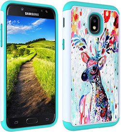 J7 V 2nd Gen Case, J7 2018 Cases, SM-J737V, J7 Refine, Samsung Galaxy J7 Aero, Protection Bumper for Samsung Galaxy J7 2018 [Deer]