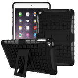 APPLE iPad Mini 4 Case, High Quality Dual Layer Hybrid Protective Case and Shockproof Bumper with Two-Way [Portrait and Landscape Mode] Side Stand by Boonix [Black-Easy Grip]