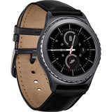 Samsung Gear S2 Classic Band for SM-R732 R7320 R735, Boonix Top-Grain Genuine Leather Quick Release Wristband, 20mm Width Easy Change Strap, NOT FIT for Gear S2 SM-R720 R730 [20mm Black]
