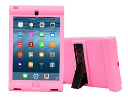 APPLE iPad Mini 4 Case, High Quality Dual Layer Hybrid Protective Case and Shockproof Bumper with Two-Way [Portrait and Landscape Mode] Side Stand by Boonix [Pink-Air Cushion]