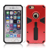 iPhone 6 6S Protective Case with Tempered Glass Screen Protector, Kick Stand Bumper Cover and Glass for Apple iPhone6 iPhone6S [4.7 inch] by BOONIX [Red w/ Ring Holder]