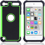 APPLE iPod Touch 6 case, High Quality Scratch-Resistant Dual Layer Hybrid Protective Case and Shockproof Bumper by Boonix [Green]