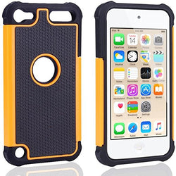 APPLE iPod Touch 6 case, High Quality Scratch-Resistant Dual Layer Hybrid Protective Case and Shockproof Bumper by Boonix [Orange]