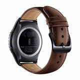 Samsung Gear S2 Classic Band for SM-R732 R7320 R735, Boonix Top-Grain Genuine Leather Quick Release Wristband, 20mm Width Easy Change Strap, NOT FIT for Gear S2 SM-R720 R730 [20mm Brown]