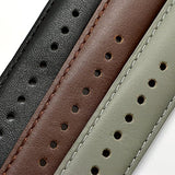 Samsung Gear S2 Classic Band for SM-R732 R7320 R735, Boonix Top-Grain Genuine Leather Quick Release Wristband, 20mm Width Easy Change Strap, NOT FIT for Gear S2 SM-R720 R730 [20mm Khaki]