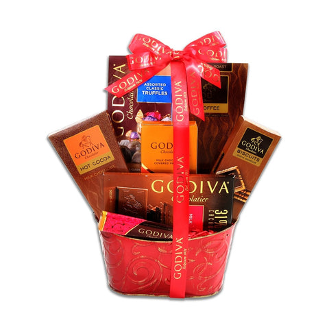 Godiva Chocolate Devotion Baskets