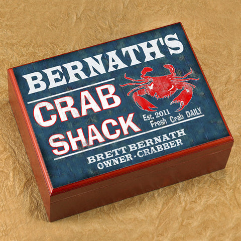 Personalized Humidor - Crab Shack