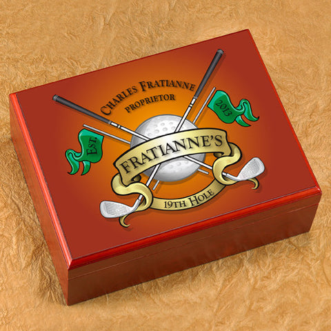 Personalized Humidor - Golf