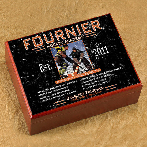 Personalized Humidor -Hockey Academy
