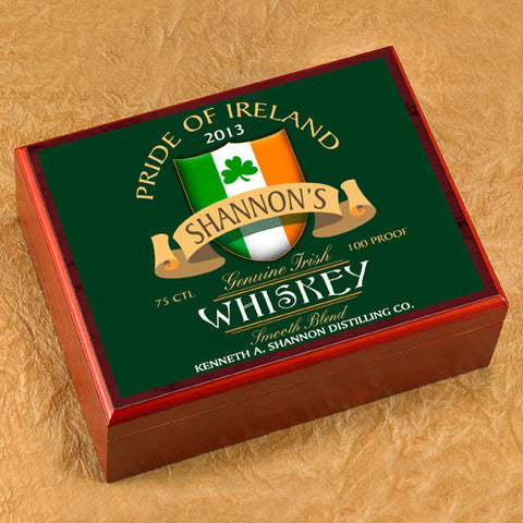 Personalized Humidor - Irish Whiskey