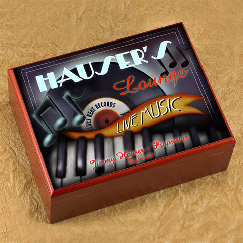 Personalized Humidor - Piano Lounge