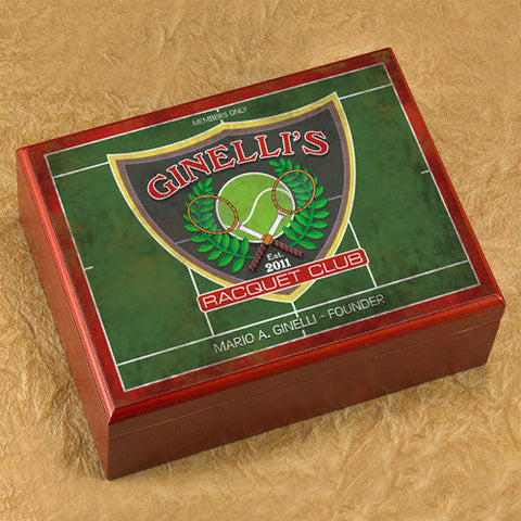 Personalized Humidor - Racquet Club