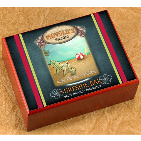 Personalized Humidor - Surf Side