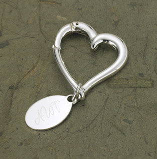 Heart Key Chain with Oval Tag