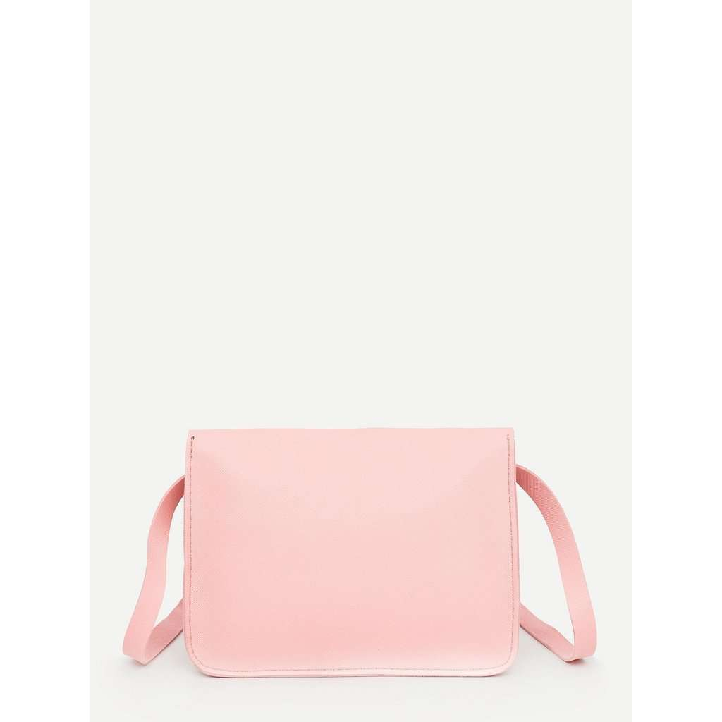 Solid PU Leather Bag