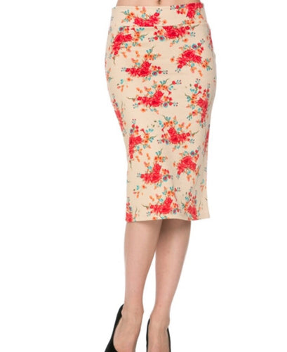 97fbbdc3e Mickey Floral Pencil Skirt-CLEARANCE