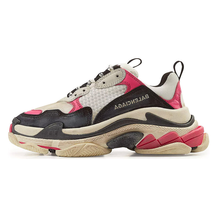 BALENCIAGA TRIPLE S PINK BLACK US7 / EU40 (NEW)
