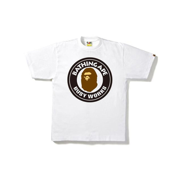 BAPE CAMO BUSY WORKS WHITE TEE XLARGE (NEW)