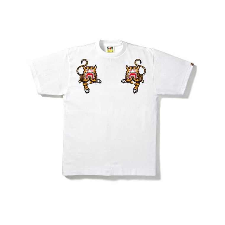 BAPE TIGER TEE WHITE LARGE (NEW)