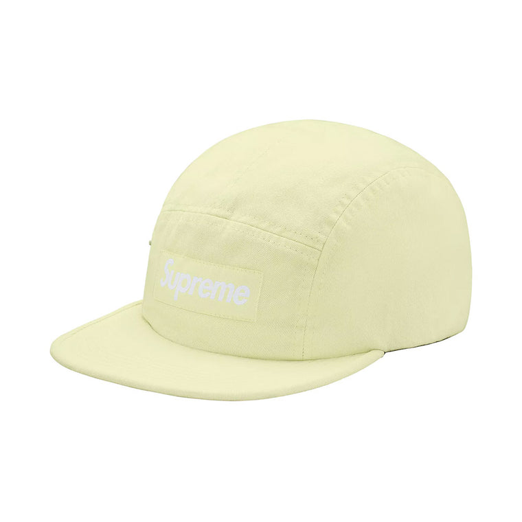 SUPREME LIME GREEN SIDE ZIP CAMP CAP (NEW)
