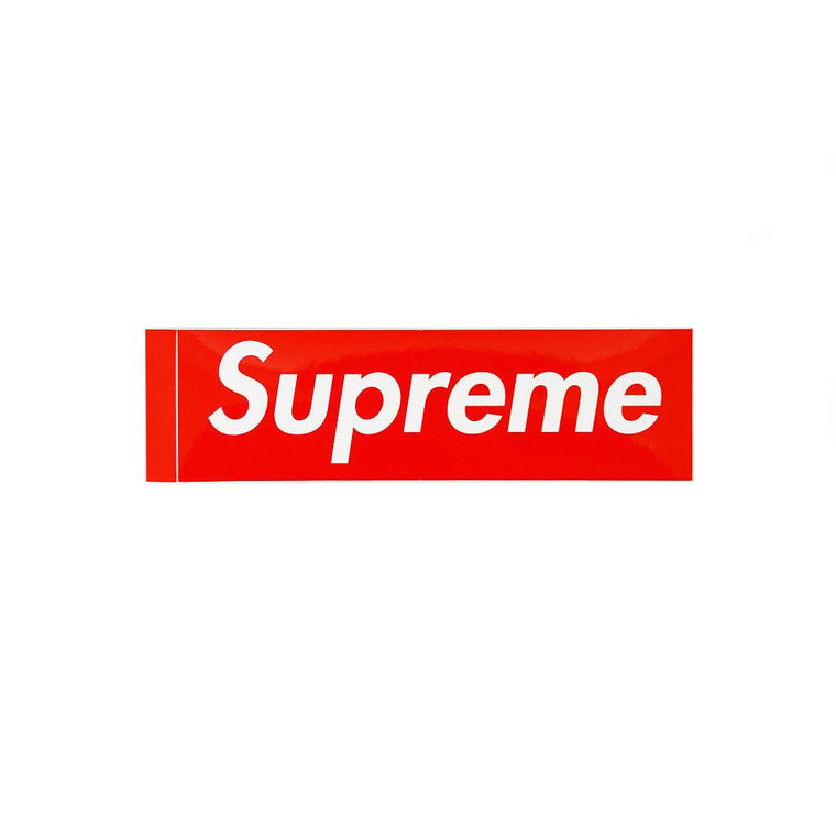 SUPREME RED BOX LOGO STICKER