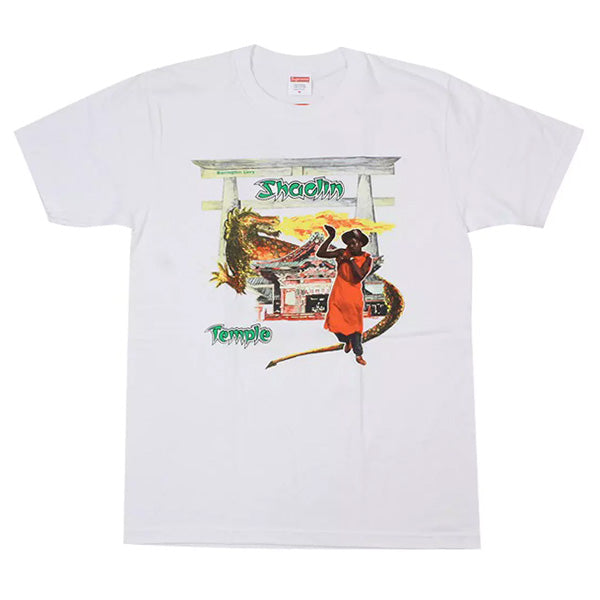 SUPREME SHAOLIN BARRINGTON LEVY TEMPLE WHITE TEE LARGE (NEW)