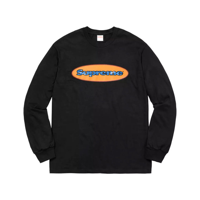 SUPREME SS18 RIPPLE BLACK LONG SLEEVE LARGE (NEW)