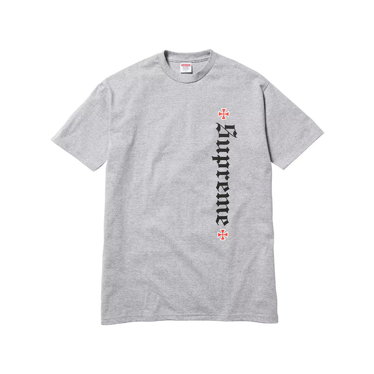 SURPEME X INDEPENDENT GREY TEE LARGE (NEW)
