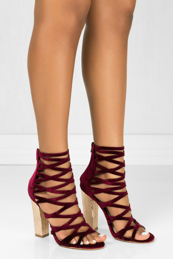 Shimmy - Maroon - BlaMer Shoes