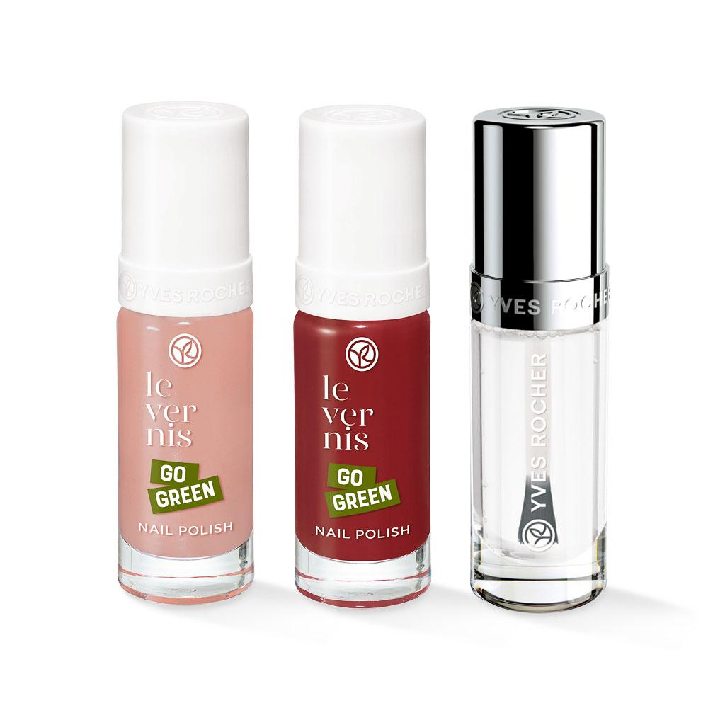 Nail polish + top coat trio #4