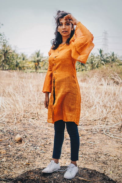 Orange shirt dress - shopdori
