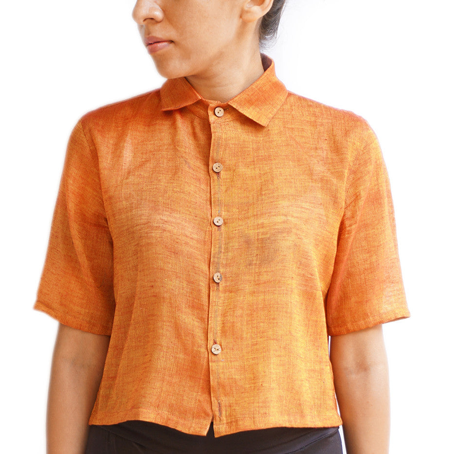 Orange crop shirt - shopdori
