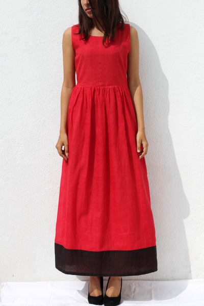 Red maxi dress - shopdori