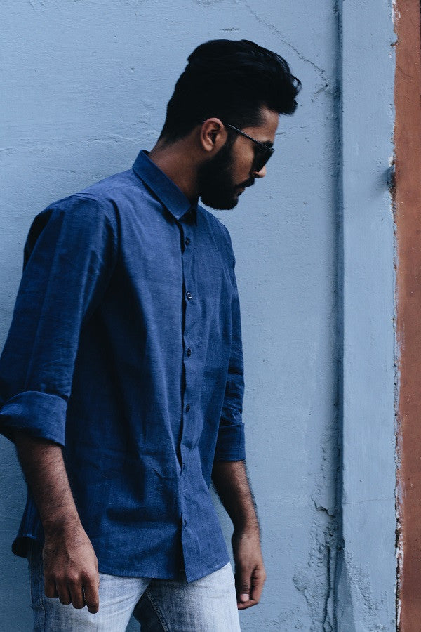 Indigo blue shirt - shopdori