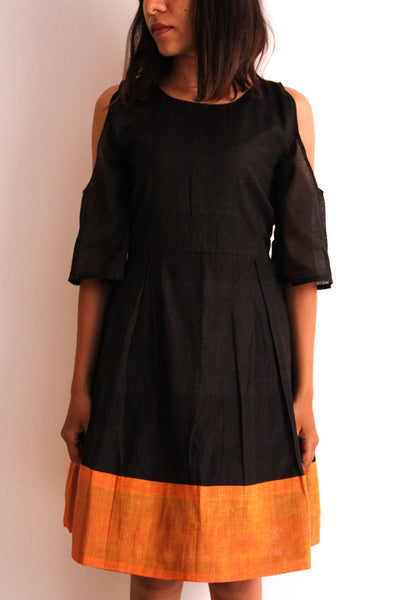 Black off shoulder dress - shopdori