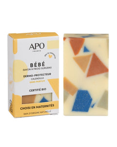 APO - Baby solid soap - Fragrance-free and EO-free - Recommended by maternity hospitals - 100g