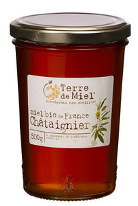 Terre de Miel - Organic Liquid Chestnut Honey from France- 500g