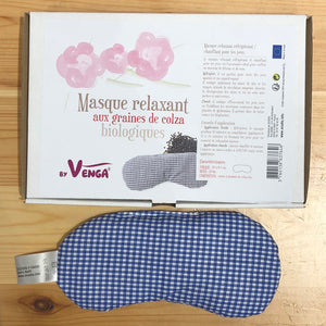 Relaxation mask - Blue Gingham