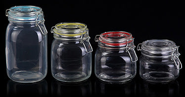 Glass jar (With Stainless steel hook) - Rectangular