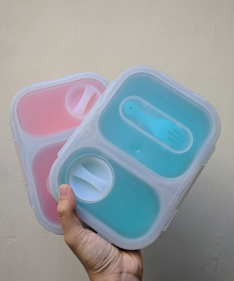 Foldable Silicone Lunch Box (Rectangle)