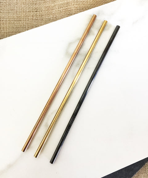 Colour Straws - 6mm Straight Stainless Steel Straw 有色直不銹鋼飲管(6毫米)