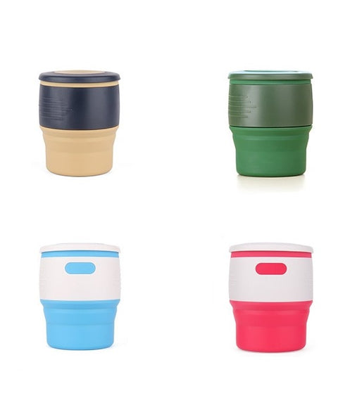 Foldable Cup with Tea Holder 350ML