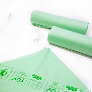 "Biodegradable and compostable ""PLA"" Garbage bags - 10 pcs for roll 113L"