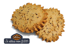 Organic Sablé Multi-grains biscuits - Gluten Free (linseed, sunflower seed, sesame)