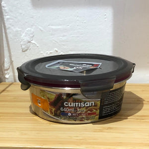 Cuitisan Air Tight Stainless Container Round 640ml
