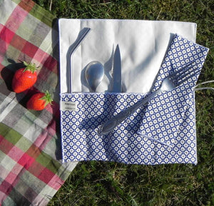Alterosac - Organic cutlery and picnic napkin case (made in France)